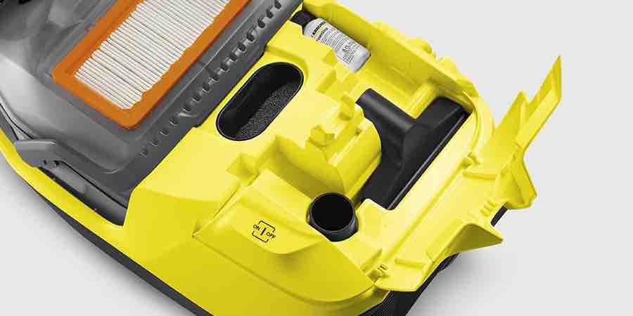 Filtro interno y accesorios de la Karcher DS 5800, karcher ds 6