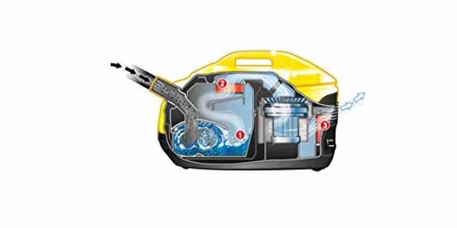 Funcionamiento de la aspiradora Karcher DS 5800